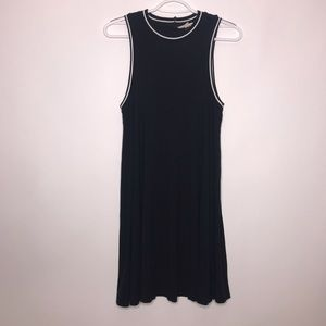 American Eagle Black Swing Dress with Cutout Back